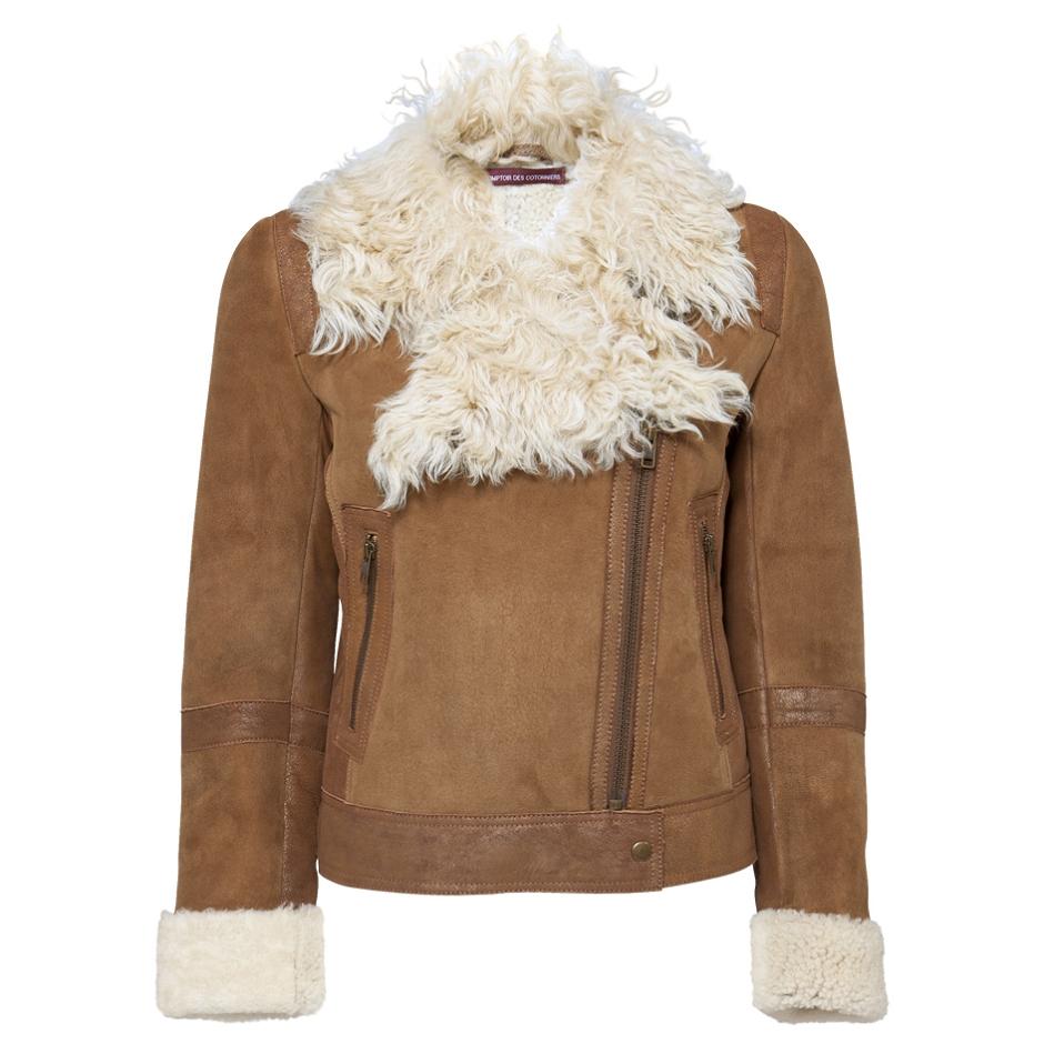 Manteau peau lainee comptoir des cotonniers manteaux - Manteau comptoir des cotonniers hiver 2012 ...