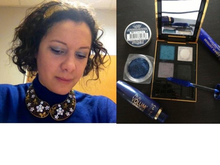 Make up  bleu YSL